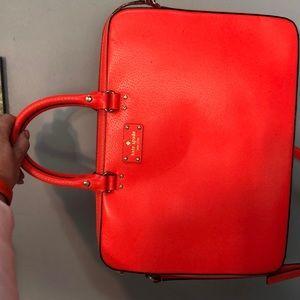 Orange Kate Spade laptop bag, great condition.